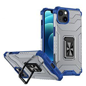 MG Crystal Ring plastový kryt na iPhone 13, modrý vyobraziť