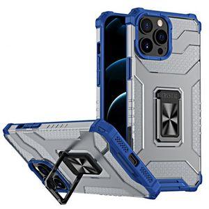 MG Crystal Ring plastový kryt na iPhone 13 Pro, modrý vyobraziť